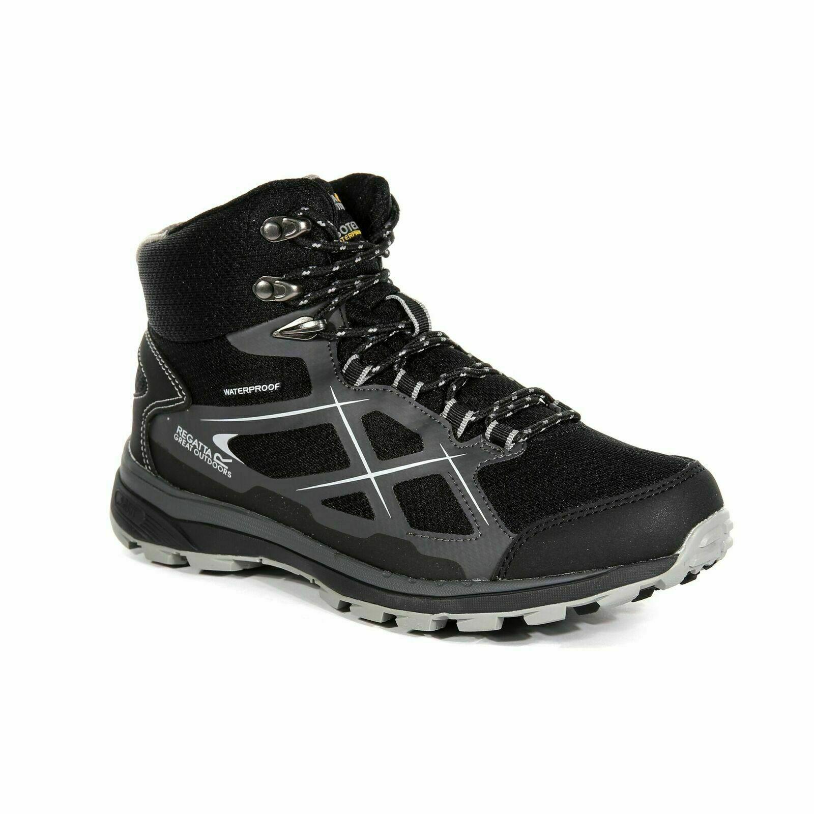Regatta Women's KOTA XLT Mid Hiking Walking Boots Black Light Steel RWF591 UK 3