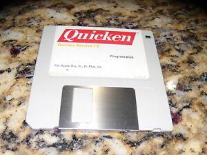 Quicken-Version-1-0-Program-Disk-Apple-IIGS-IIc-Plus-IIe-3-25-034-disk