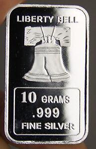 USA-10-gram-999-Fine-Silver-Commemorative-Bullion-039-Liberty-Bell-039-Sealed-amp-UNC