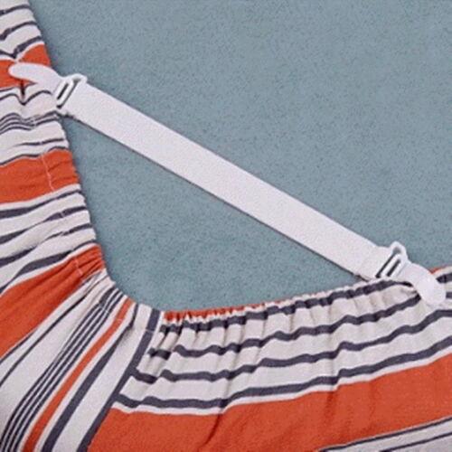 4Set//pcs Fitted Bed Sheet Holder Sheet Grip Mattress Gripper Clip Fastener Wh #S