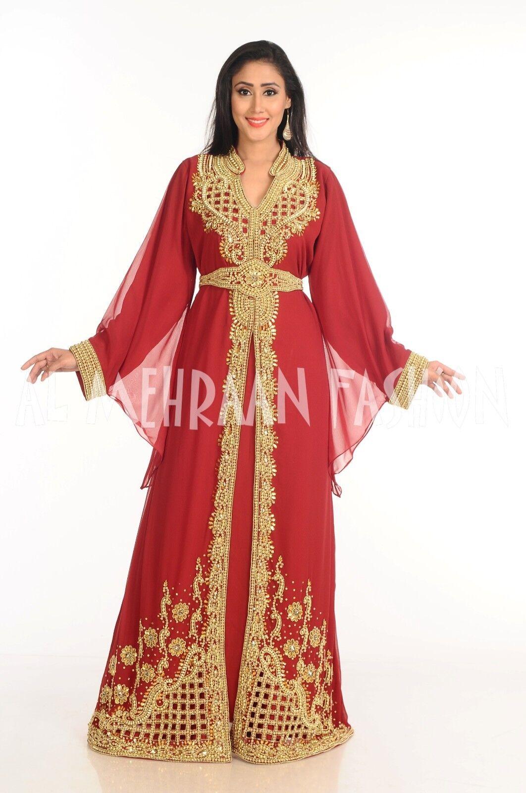 ELEGANT MgoldCCAN FANCY JILBAB ARABIAN DUBAI TAKSHITA WEDDING GOWN DRESS DRESS DRESS  164 c5feb0