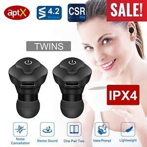 Mini-Wireless-Twins-Earbuds-Mic-True-Bass-Stereo-In-Ear-TWS-Earphones-US-Seller
