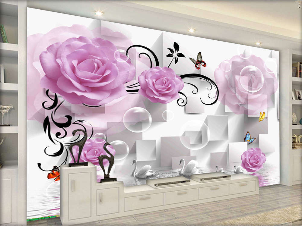 Plain Focal Lotus Lotus Lotus 3D Full Wall Mural Photo Wallpaper Printing Home Kids Decor fdd3e9
