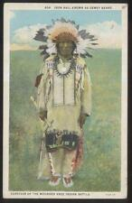 Postcard Sioux Indian IRON HAIL/DEWEY BEARD Wounded Knee Survivor 1920's
