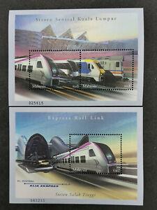 Malaysia-2002-ERL-express-rail-link-pair-MS-MNH
