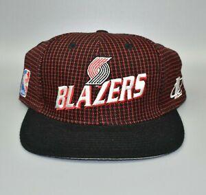 Portland-Trail-Blazers-NBA-Logo-Athletic-Grid-Vintage-90-039-s-Strapback-Cap-Hat