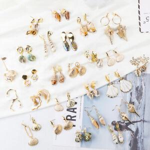 Fashion-Women-Shell-Earring-Natural-Conch-Pendant-Dangle-Drop-Earrings-Jewelry