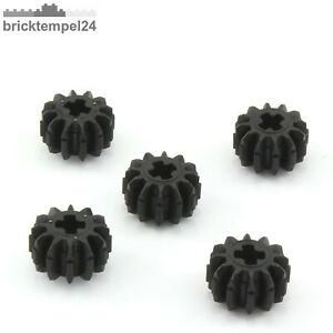 LEGO Technik Zahnrad 12 Zähne schwarz Black Technic Gear 12 Tooth Bevel 6589