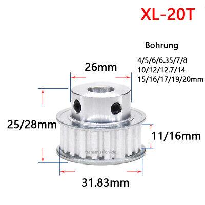 Satz mit 2 120 XL CNC Zahnriemen und 10 Zahn Synchronscheibe mit 5 mm Bohrung