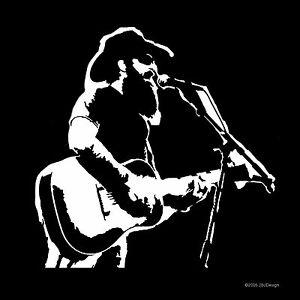 Cody Jinks Country Music Singer Songwriter Guitar Decal