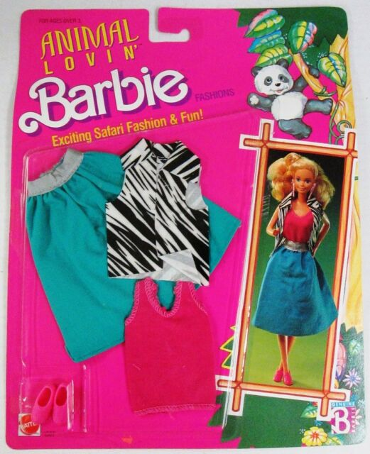 Barbie Animal Lovin Zebra Print Fashion Pack (NEW)