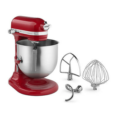 KitchenAid Commercial 8-Qt Bowl Lift NSF Stand Mixer RKSM8990ER 1.3-HP Red