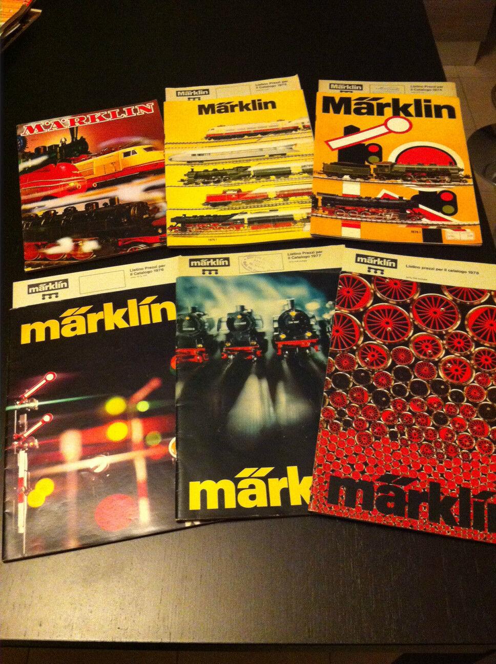 6 Catalogo MARKLIN 1971 1971 1971 74  1975  76  1977 1978 treni elettrici + 5 Price List f7ef86
