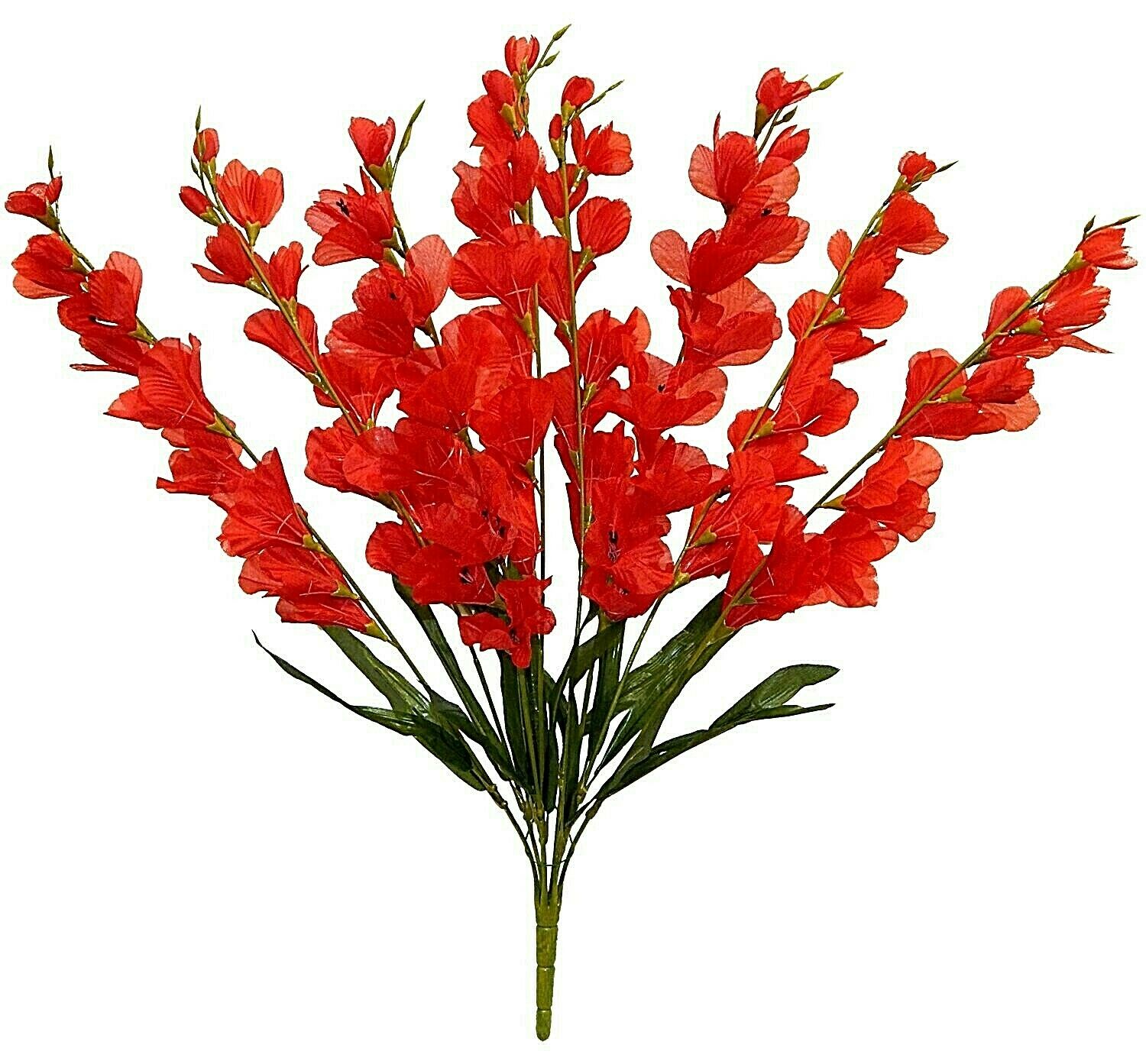 Artificial Fake Silk Flower Tropical Heliconia Flowers Stem Orange Lobster Claws