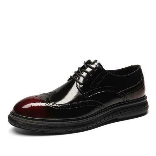 Details about  /Mens Business Leisure Faux Leather Shoes Work Office Oxfords Lace up Formal 44 L