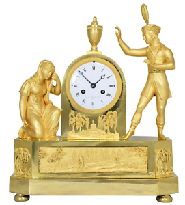 PENDULE-MATELOT-Kaminuhr-Empire-clock-bronze-horloge-antique-cartel-uhren