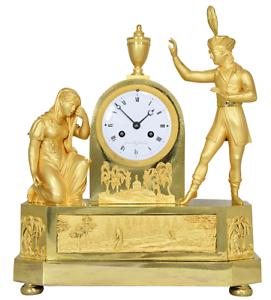 PENDULE MATELOT. Kaminuhr Empire clock bronze horloge antique cartel uhren