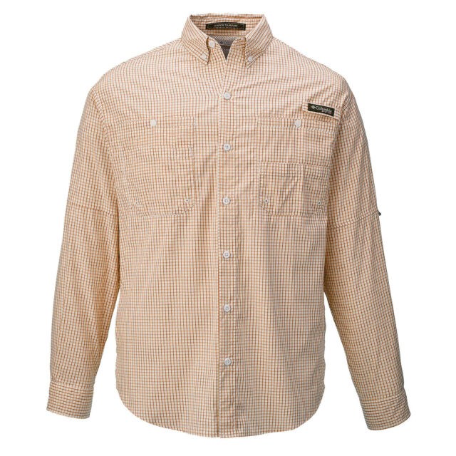 2f31c3d2ede Columbia- Long Sleeve Super Tamiami Shirt Slate Orange Size Large | eBay