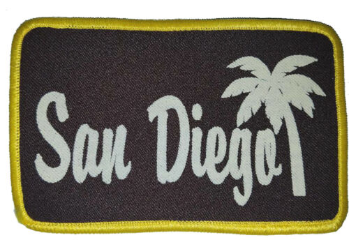 San Diego California Palm Tree Embroidered Patch 3x5  Iron On Brown