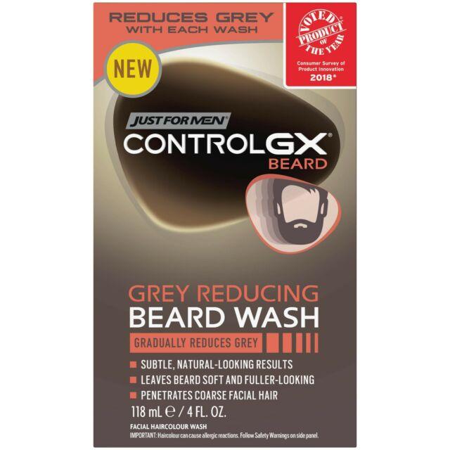 New Just For Men Control GX Grey Reducing Beard Wash 4 Fl. Oz.