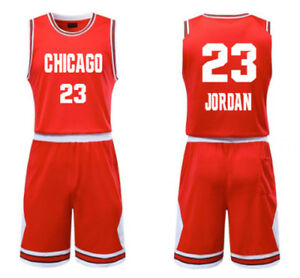 huge selection of bac9f 61b64 KIDS BOY YOUTH MJ JORDAN #23 BASKETBALL JERSEY W/ SHORT SET ...