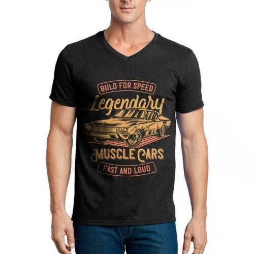 Legendary Muscle Car Cars T-Shirt Hot Rod Original Engine Motor Custom Gara B859