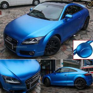 Matte Blue Car >> Details About Sea Blue Car Pearl Metal Satin Matte Metallic Chrome Vinyl Wrap Sticker Film Cf