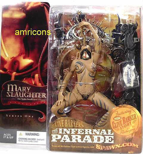 Infernal Parade Mary Slaughter Action Figure 2004 McFarlane Toys Clive Barker