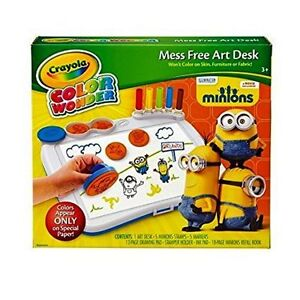 Crayola Color Wonder Art Desk Mess Free with Minions Stamper - New ...