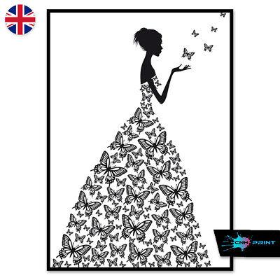 Watercolour World Map Poster Print A4 A3 Wall Art Decor Fashion Pretty 1403