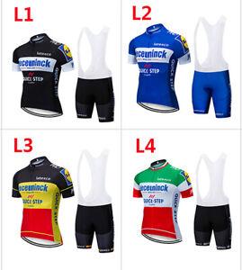 2019-quickstep-Bicicletta-Bici-Ciclismo-Abbigliamento-Maglie-Maillot-Shorts-GEL