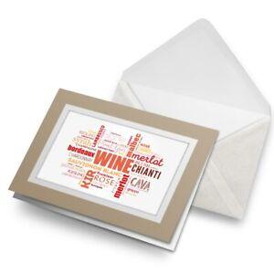 Greetings-Card-Biege-Wine-Varieties-Bar-Drinks-Alcohol-24444