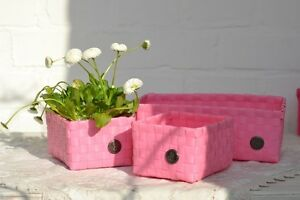 Handed By 3er Set Panier Paniers Rose Blossom Dekokorb Flechtkörbe Korbset Nouveau!-afficher Le Titre D'origine