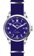 Zeno-Watch Basel Swiss Made Pilot Navigator Nato Quartz blue nylon saphirglas