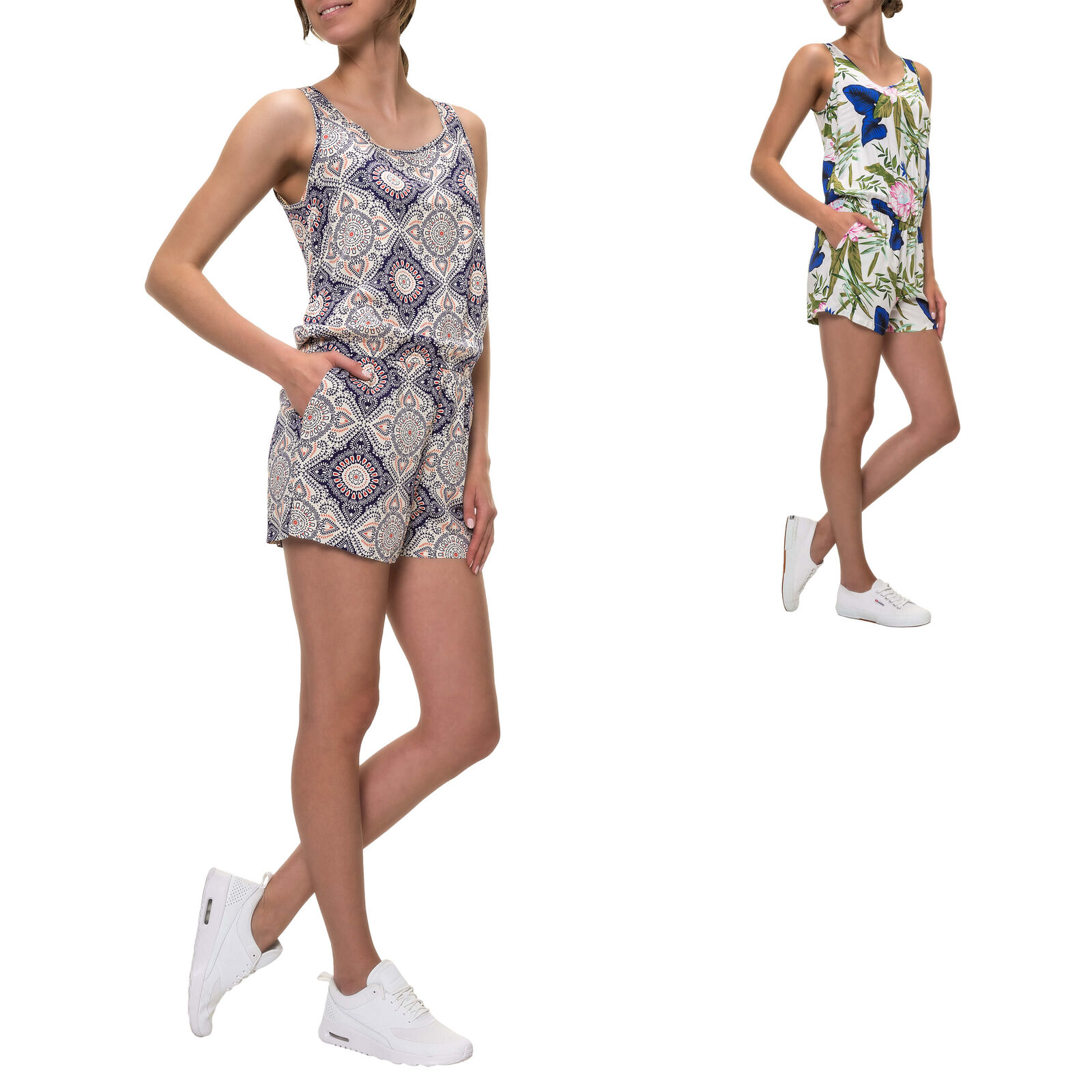 Only Femmes Femmes Femmes Playsuit Combinaison Combishort Jumpsuit Aop Print Color Mix SALE% 687b79