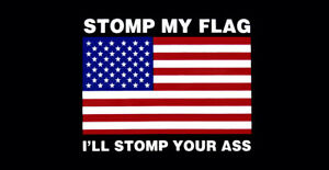 Wholesale-Lot-of-6-Stomp-My-Flag-I-039-ll-Stomp-Your-A-USA-Black-Bumper-Sticker