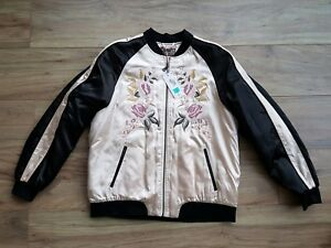 Marks-and-Spencer-Per-Una-Floral-embroidered-bomber-style-jacket-Size-14-BNWT