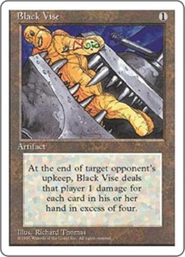 BLACK VISE Fourth Edition MTG Artifact Unc