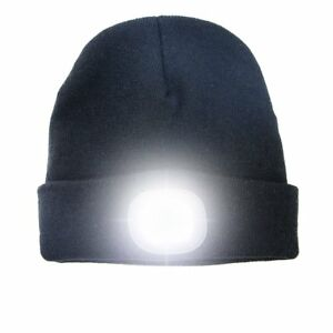cb542f25e7e Beamie Beanie Hat With 4 LED Torch Light One size Camping Cycling ...