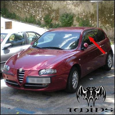 2 Deflettori Aria Antiturbo Alfa Romeo 147 2001 in poi 3 porte