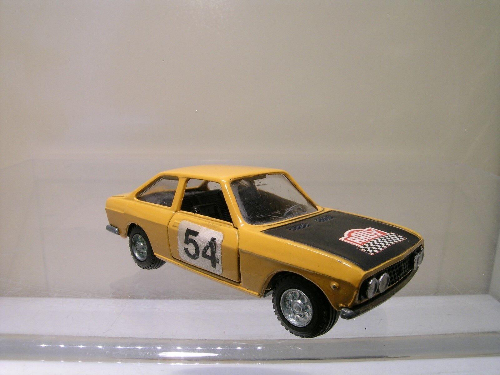 MERCURY ITALY No.302 FIAT 124 SPORT COUPE RALLYE 54 Gelb schwarz DIECAST 1 43