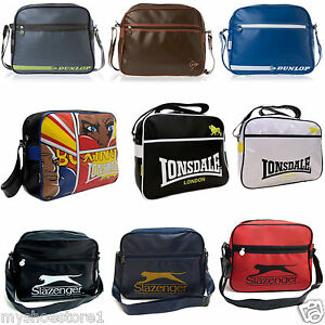 BRANDED-DUNLOP-RETRO-SHOULDER-MESSENGER-SCHOOL-COLLEGE-FLIGHT-GYM-BAG-SATCHEL