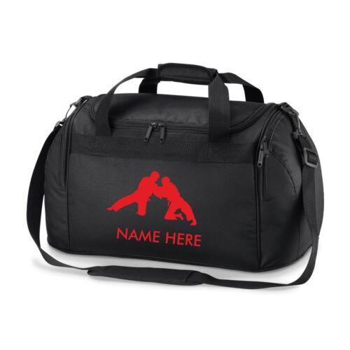 JUDO Kit Borsa Personalizzato Nome Borsone da palestra Karate MMA Boxe UFC Tae Kwon