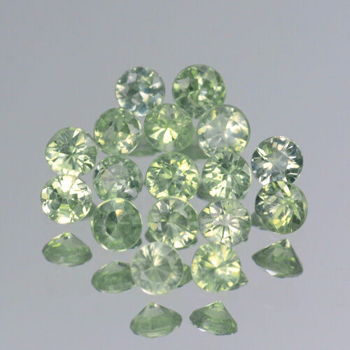 Details about  /3.3mm Lot 1,6,10pcs Top Round Diamond Cut Calibrated Natural Green SAPPHIRE
