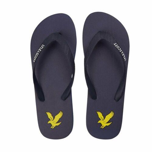 Lyle /& ScottFW1213 Retro Eagle Logo Flip Flops Sandals