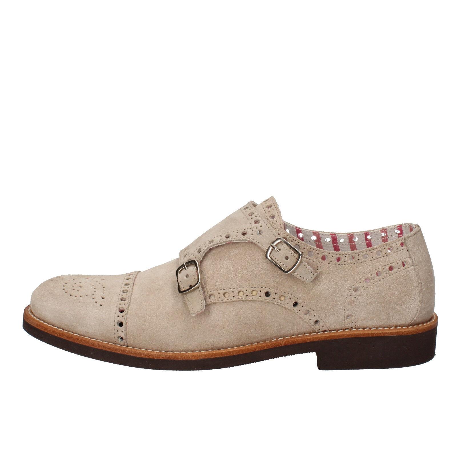Mens shoes DI MELLA 8,5 (EU 42,5) elegant   oxford-shoes beige suede AD270-F