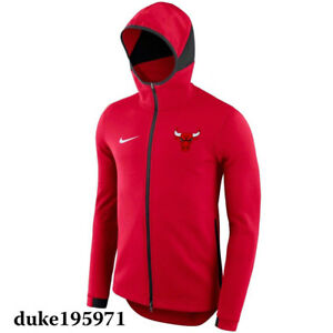 Nike Chicago Bulls 2017 Nike NBA DRI-FIT Showtime Full-Zip Hoodie ... 2f820ebde