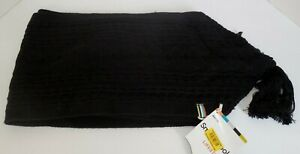 Smartwool-Bunny-Slope-Knit-Scarf-Black-Merino-Wool-New-Womens
