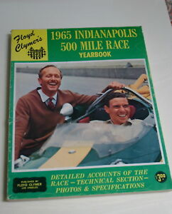1965-CLYMER-YEARBOOK-INDY-500-INDIANAPOLIS-COLIN-CHAPMAN-JIM-CLARK-MUCH-MORE