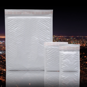 10pcs//pack Poly Bubble Mailers Self Seal Padded Shipping Envelopes Bags 4size CA